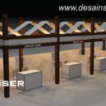 stand standar kayu mall