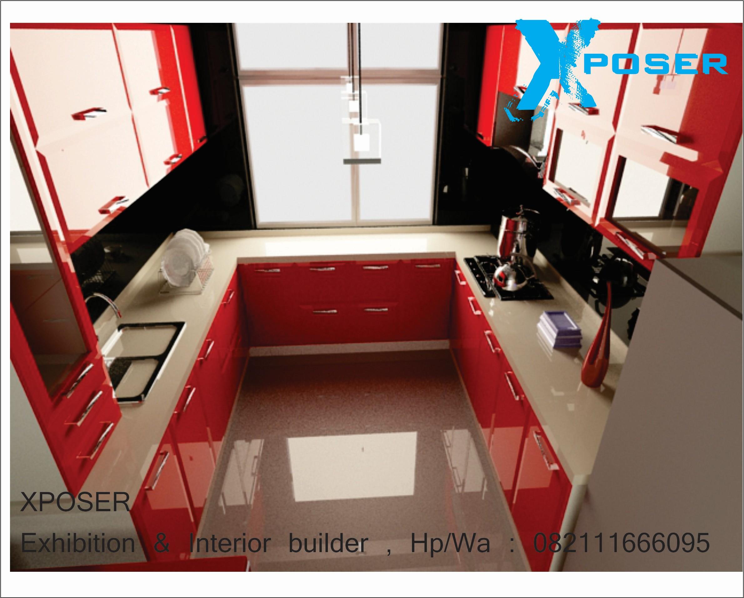 interior dapur mini kontraktor pameran