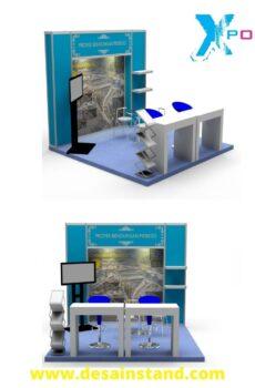 desain backdrop booth