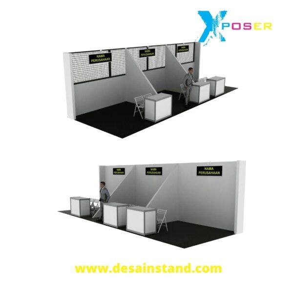 desain booth standar mall