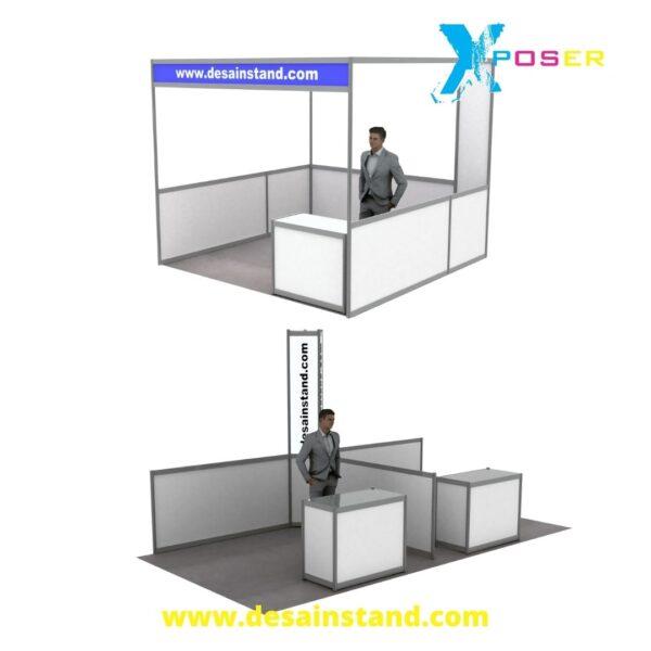 desain stand di mall