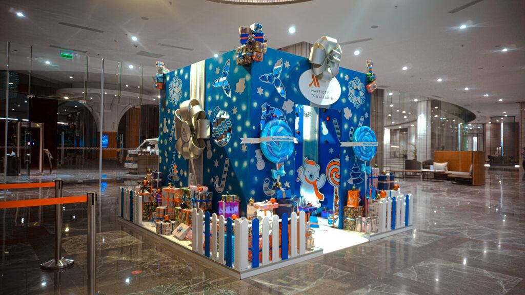 tema booth dekorasi natal