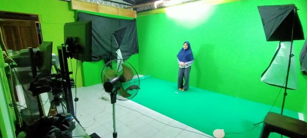 virtual green screen dengan lighting