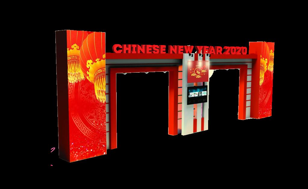 welcome gate tema tahun baru china